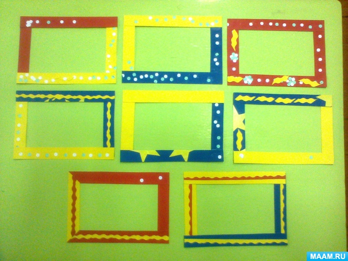 Разноцветные рамки для поделок на выставку своими руками