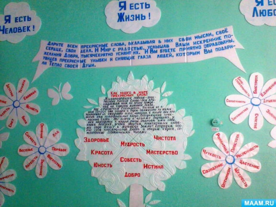 «Как много в мире прекрасных слов!» Оформление кабинета начальных классов