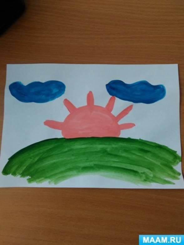 Конспект занятия по рисованию во второй группе раннего возраста «Солнышко — колоколнышко».