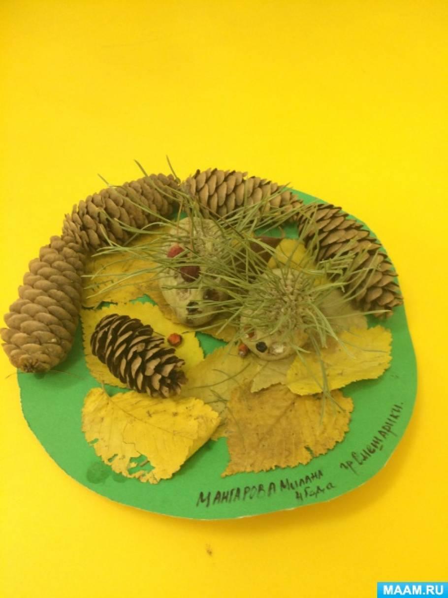 Поделка из шишек, листьев и других природных материалов «Осеннее вдохновение»