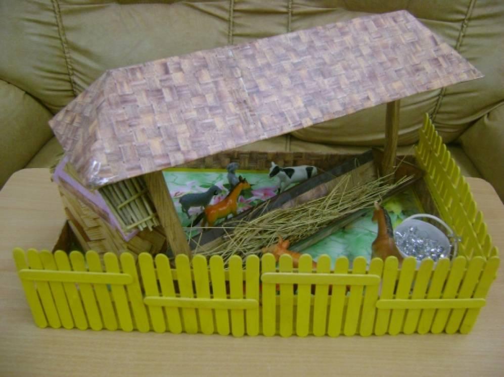 Забор для игрушечной фермы своими руками