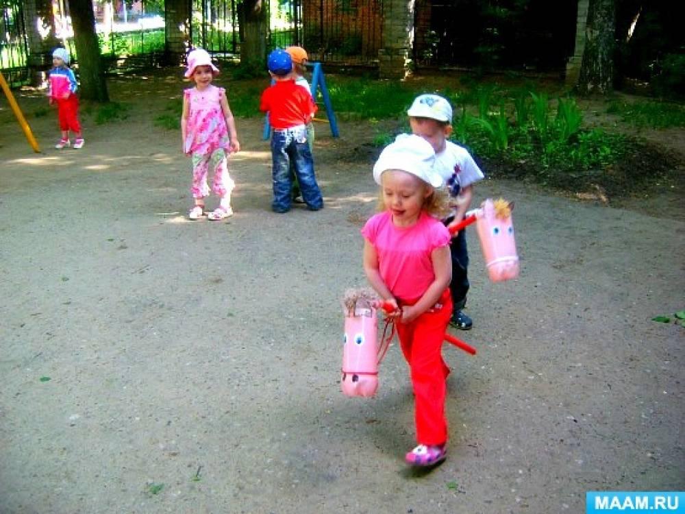 Детские вожжи для игры в лошадки своими руками