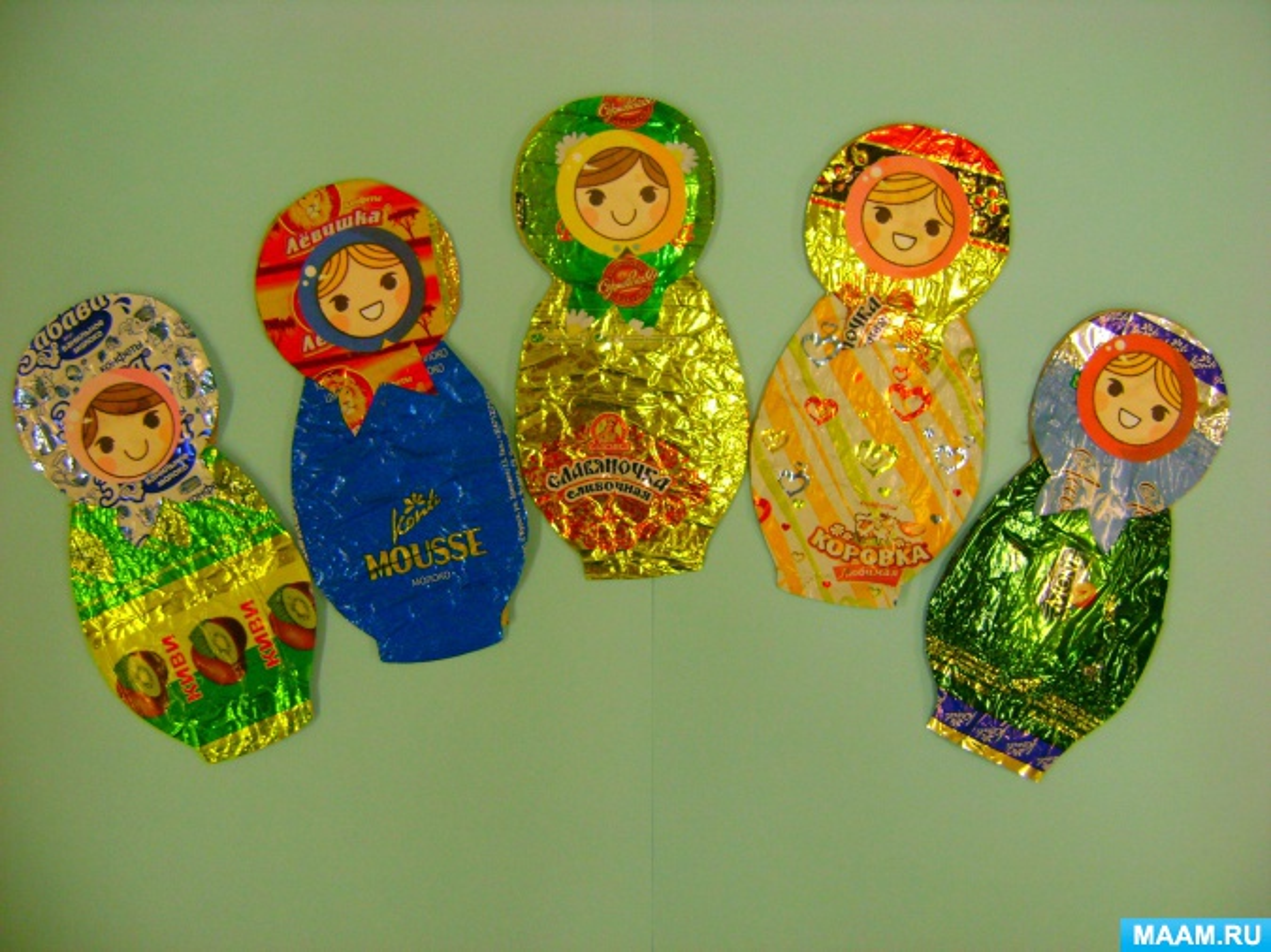 Простые поделки из фантиков от конфет своими руками схемы