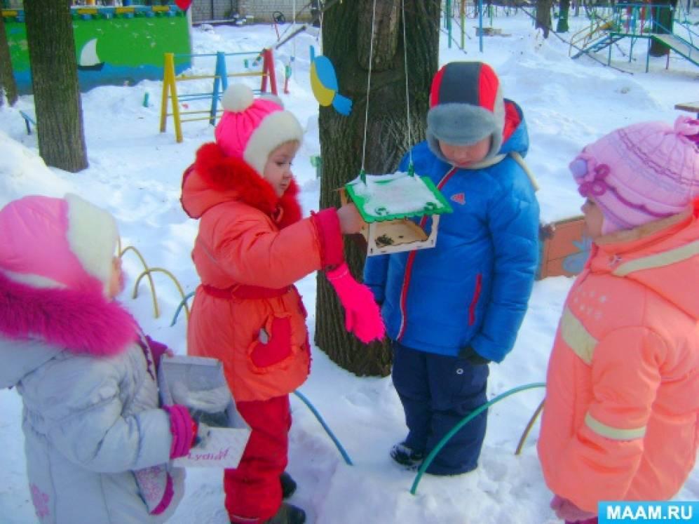 Наблюдения за птицами на участке детского сада