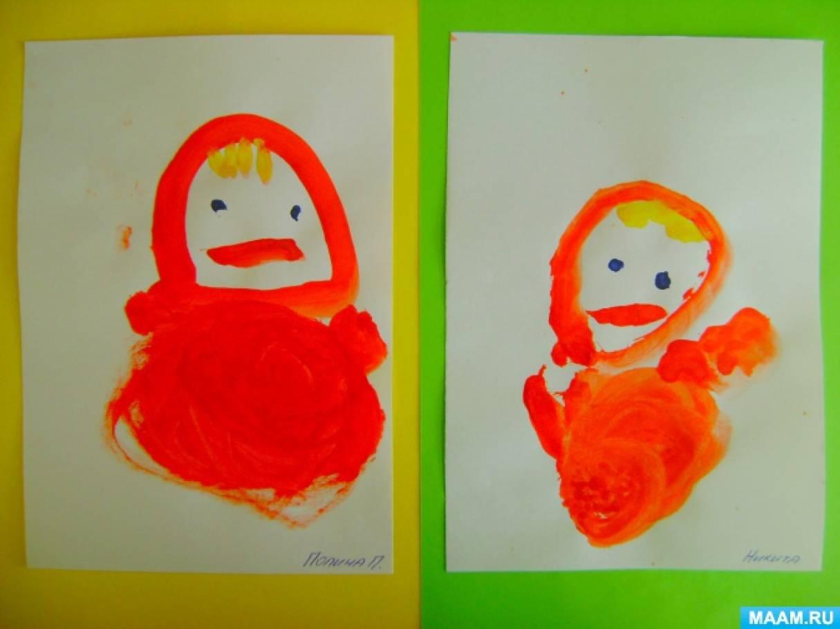 Фотоотчёт о работах по рисованию «Неваляшки— яркие рубашки»