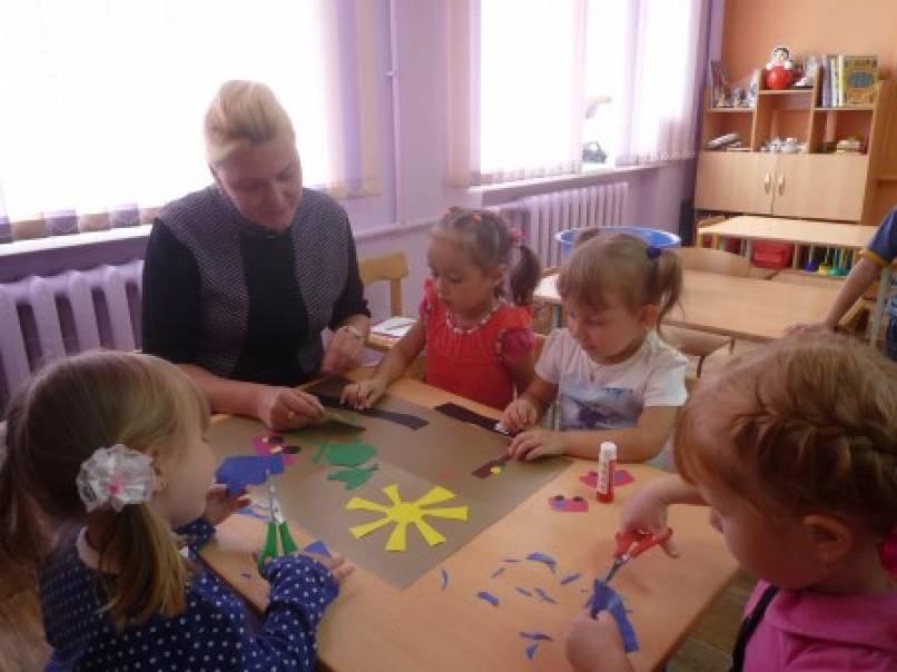 знакомство с акварелью дошкольников