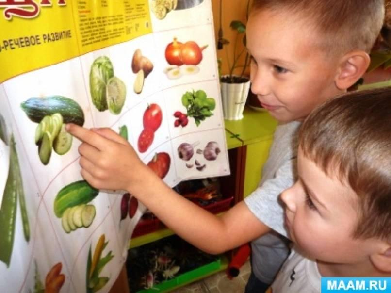 Беседа об овощах и фруктах с детьми старшего дошкольного возраста по теме недели «Следы осени. Сбор урожая в Оренбуржье»