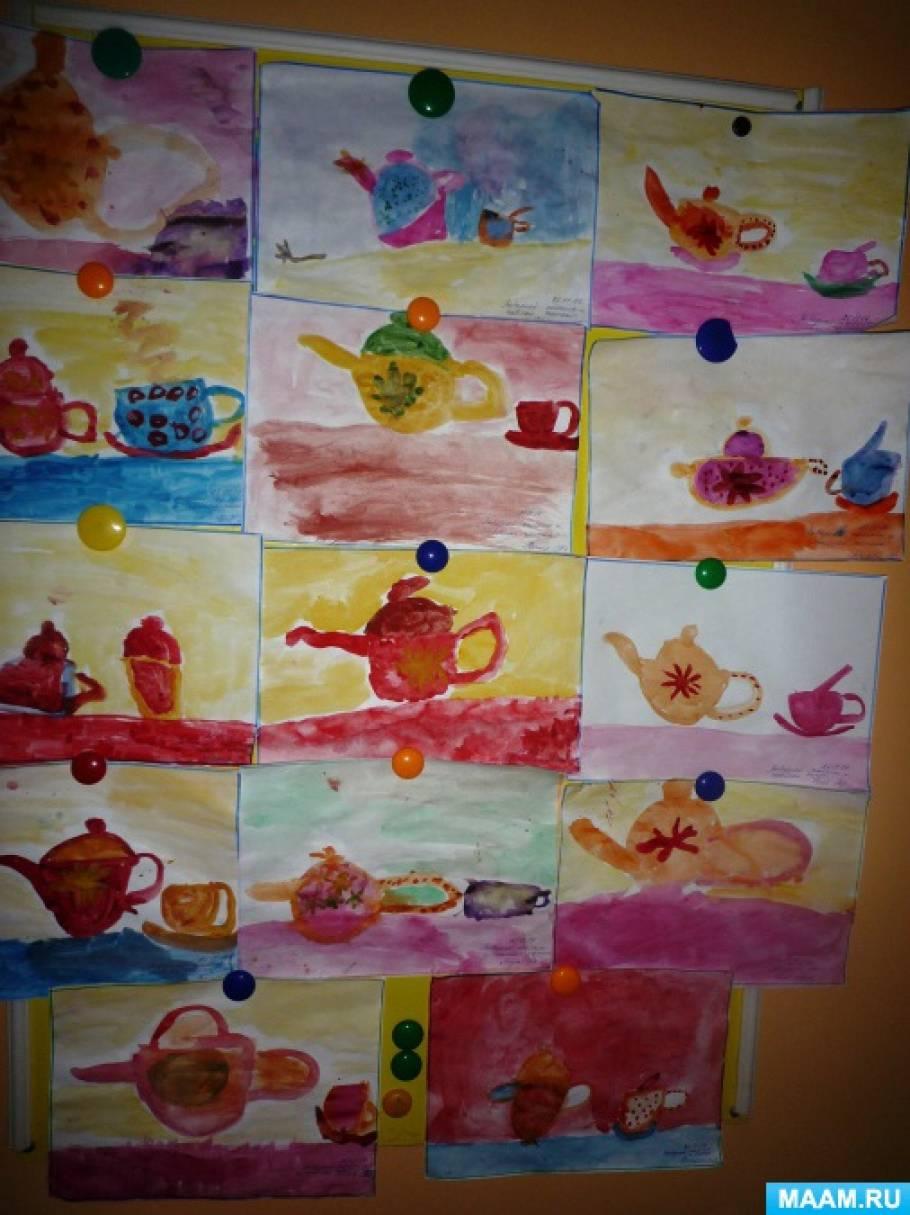 Фотоотчёт о художественно-продуктивной деятельности детей старшего дошкольного возраста «Посуда»
