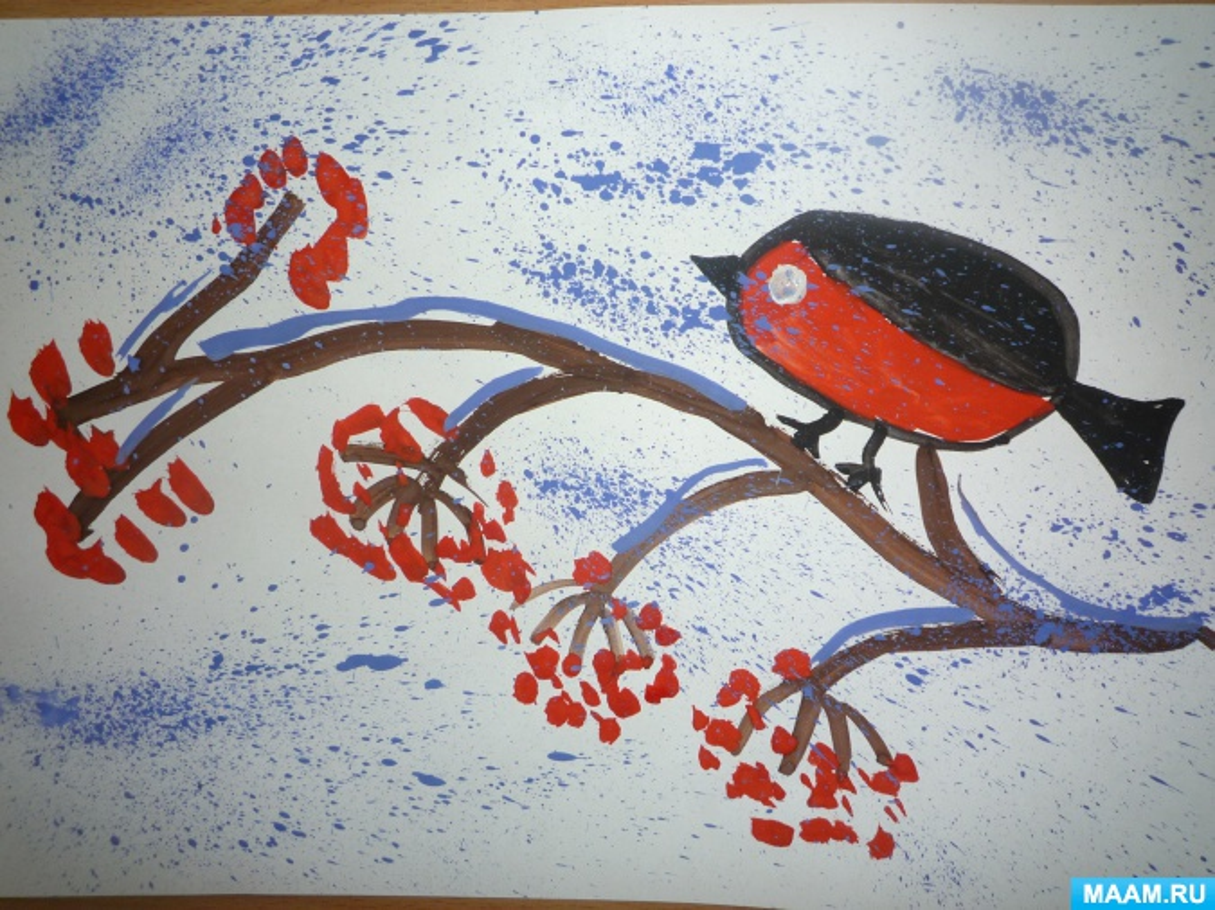 Рисование птиц картинки в старшей группе