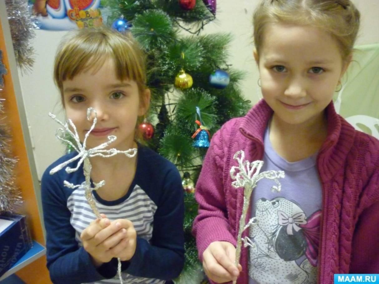Мастер-класс «Цветы из фольги» для детей подготовительной группы