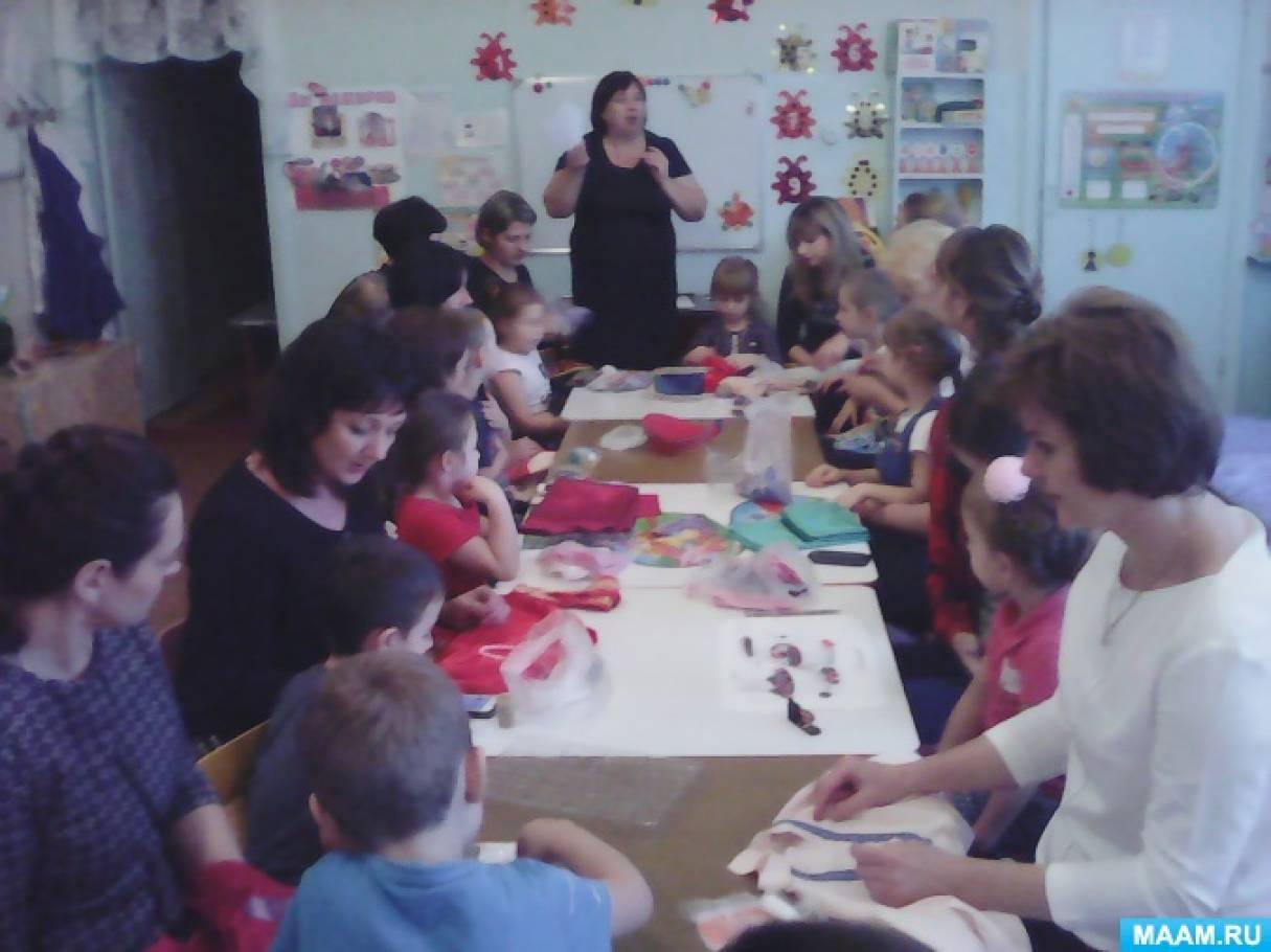 Фотоотчет о мастер-классе в старшей группе «Изготовление кокошников и вышивание рубашек»