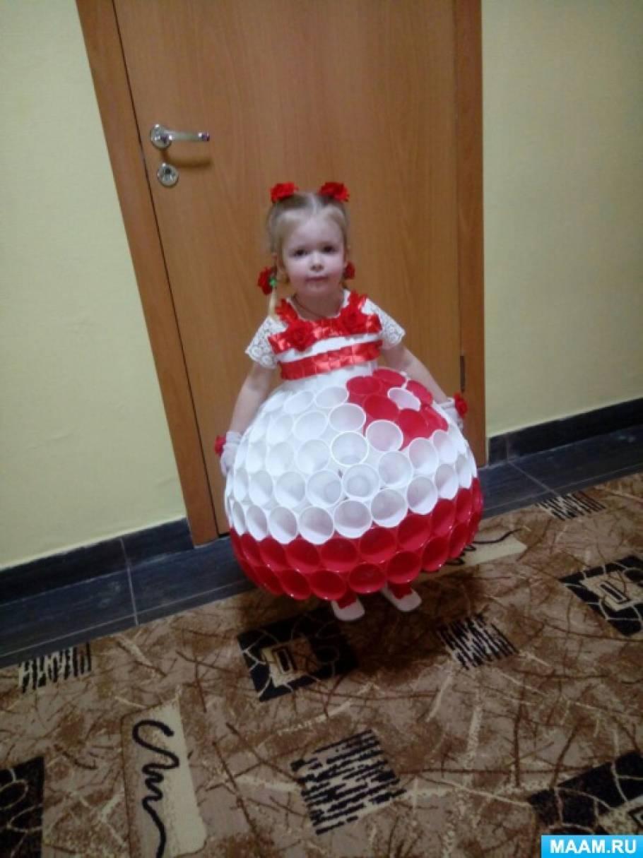 Платье из стаканчиков одноразовых как сделать 571