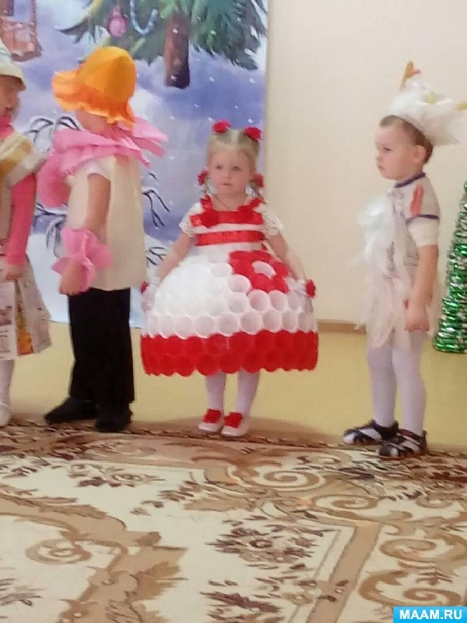 Платье из стаканчиков одноразовых как сделать 388