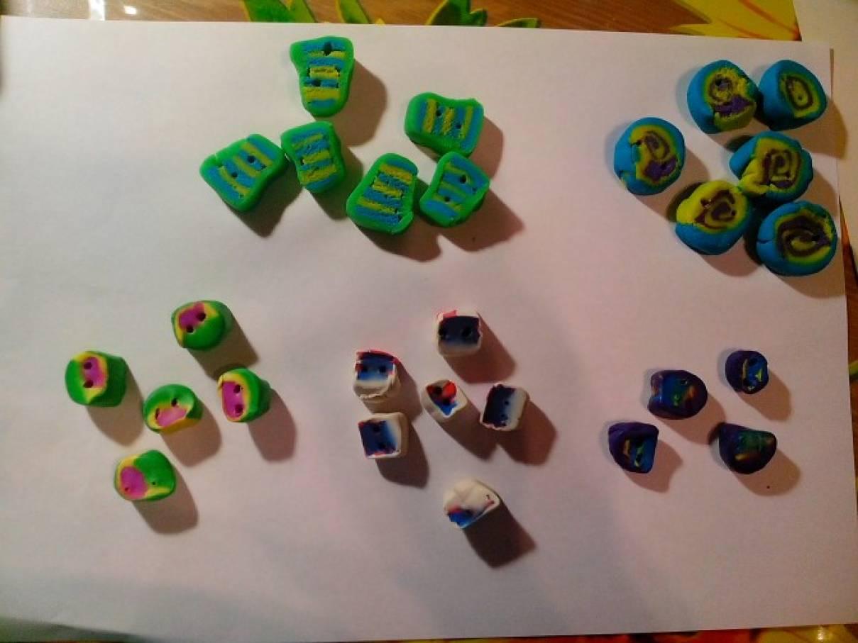 Конспект занятия по лепке (6–7 лет) «Сказочные пуговицы»