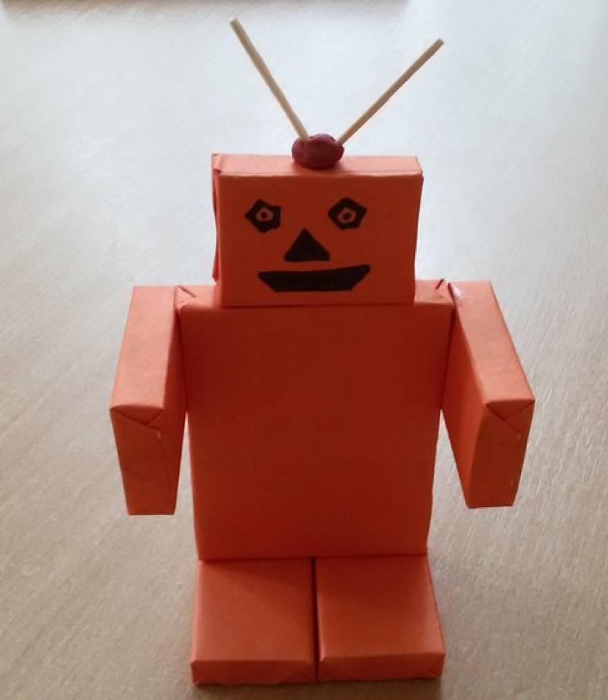 Робот из бумаги своими руками для детей 694