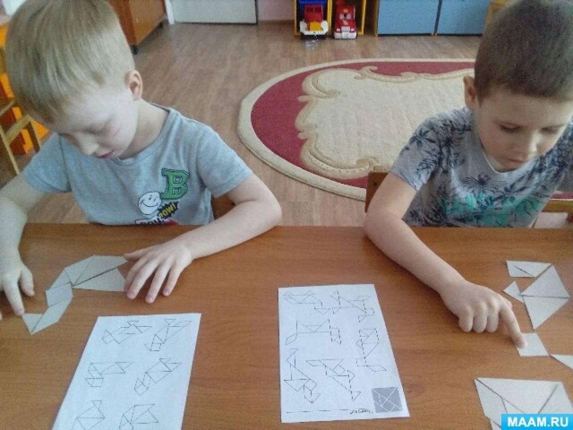 Развивающая игра-головоломка «Танграм» в ДОУ. Фотоотчет