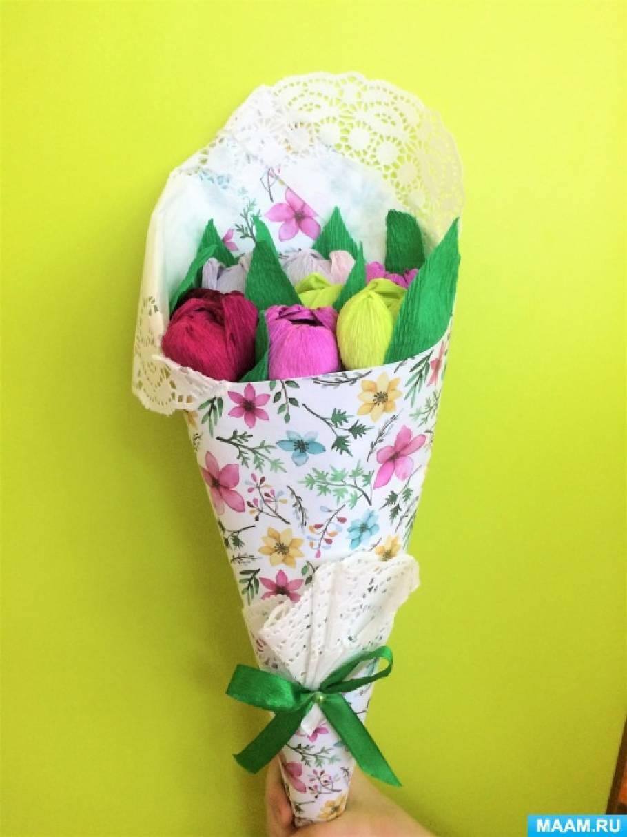 Мастер-класс по изготовлению букета из конфет «Тюльпаны для любимой мамы!»