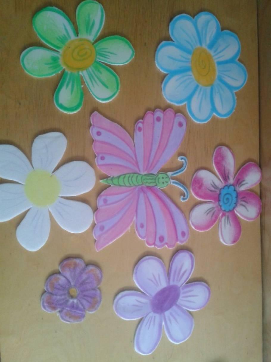 Цветы своими руками из потолочной плитки