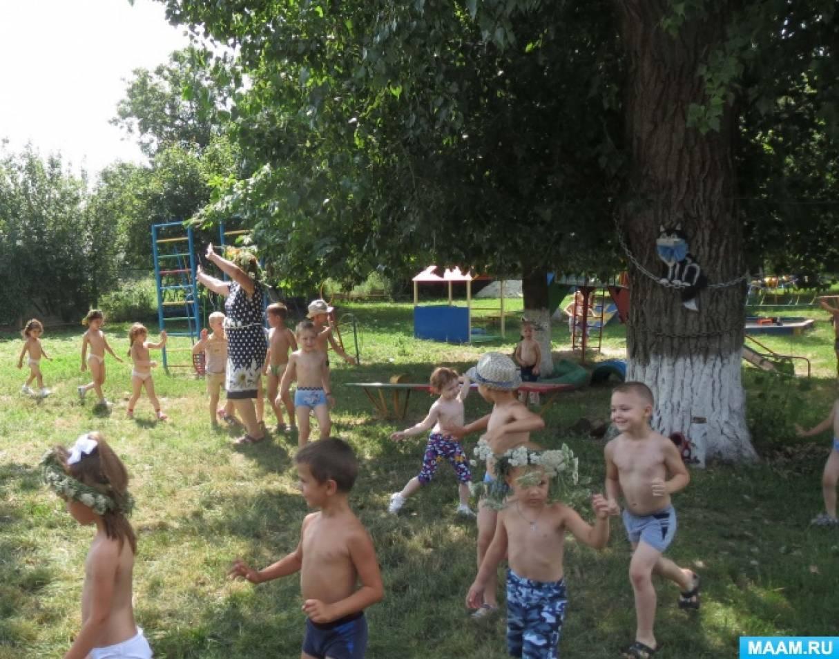 Репортаж с традиционного празднования Дня Ивана Купала в детском саду «Солнечный зайчик»