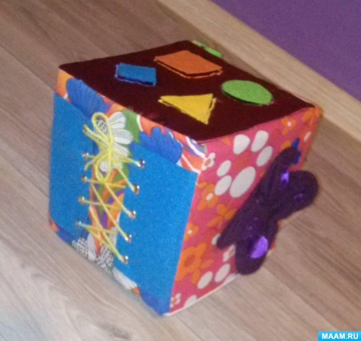 Сенсорный кубик своими руками 12