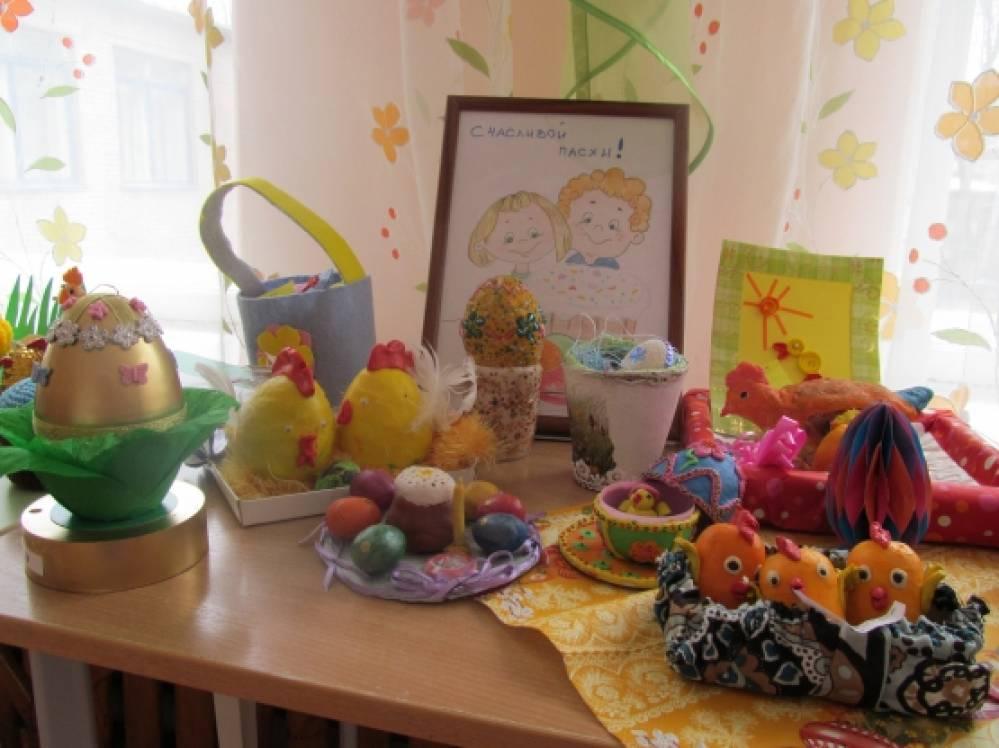 Фотоотчет о выставке в детском саду «Светлая Пасха»