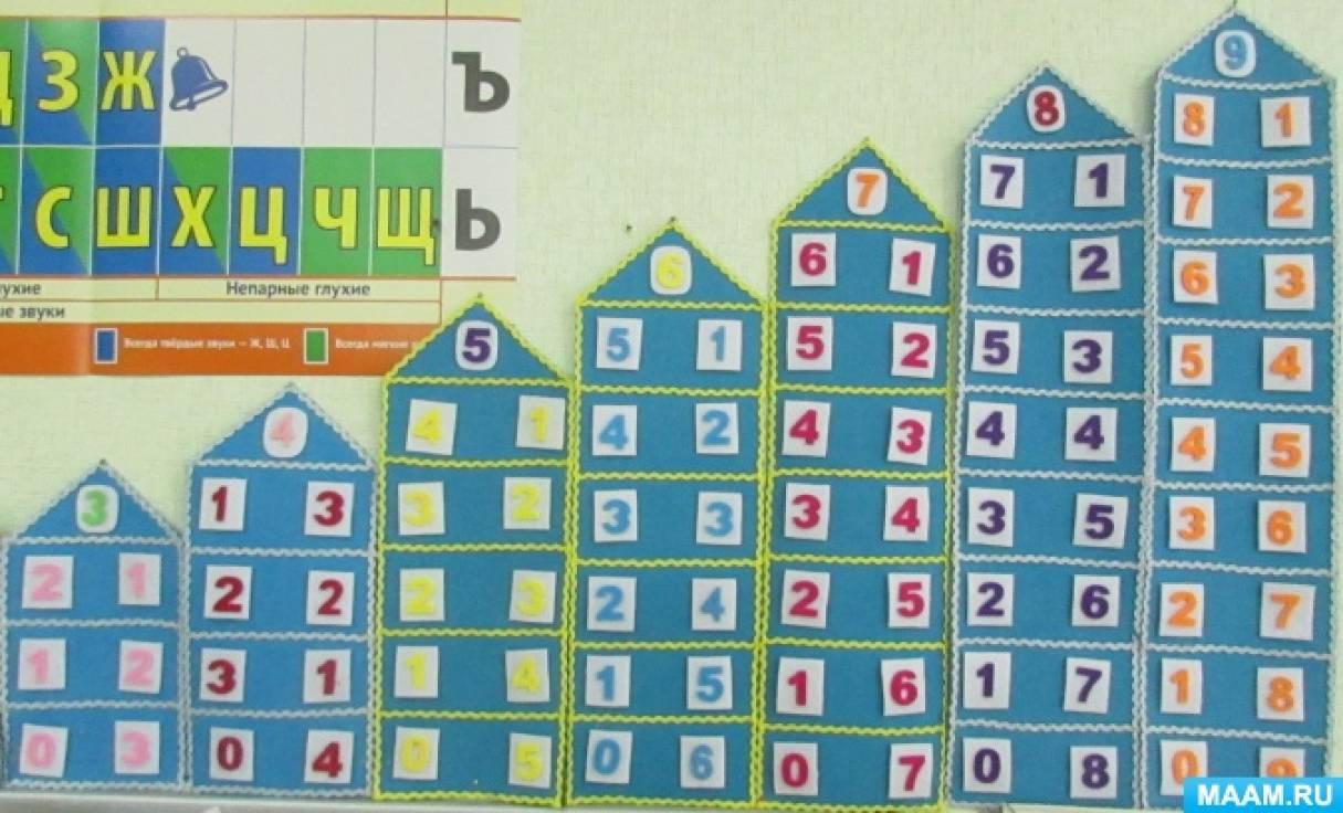 Тренажер-игра «Числовые домики» из фетра