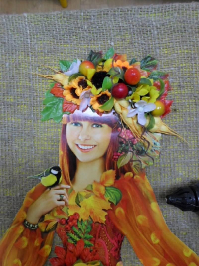 Детское платье золотая осень на конкурс