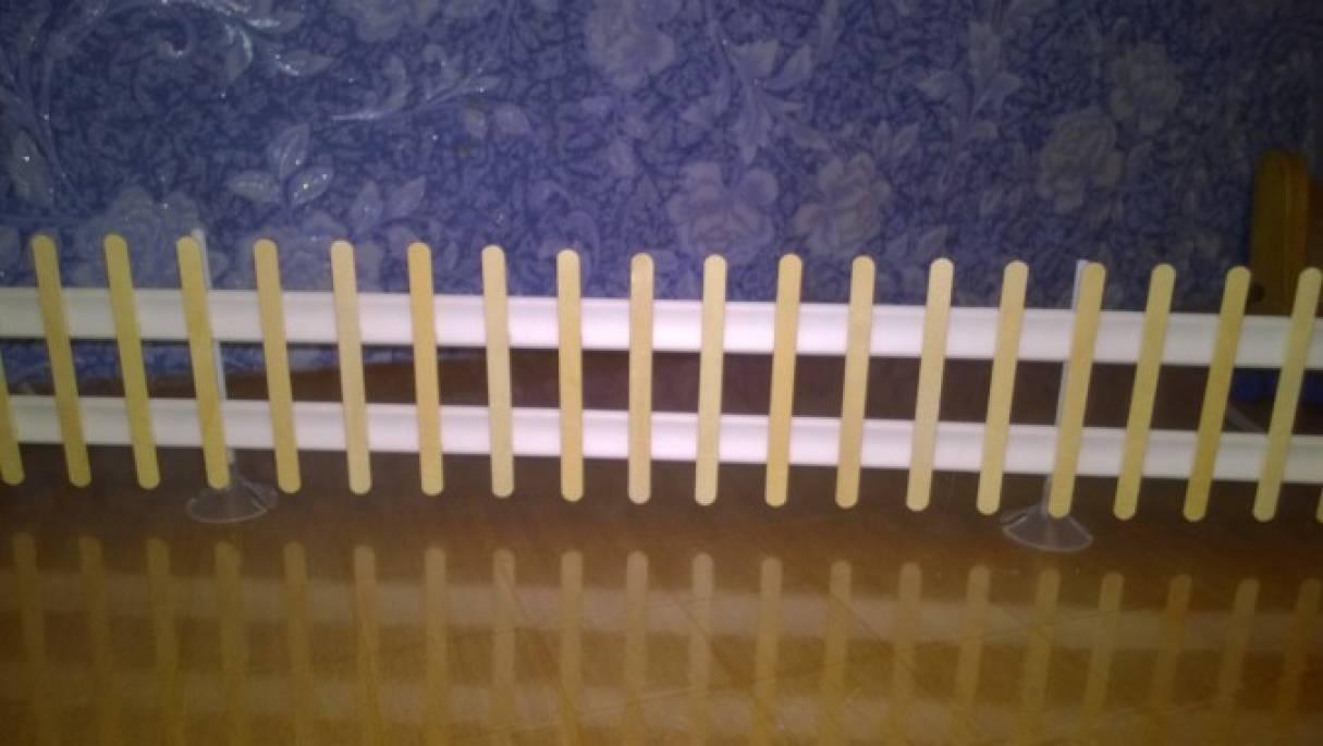 Забор из палочек от мороженого своими руками 634