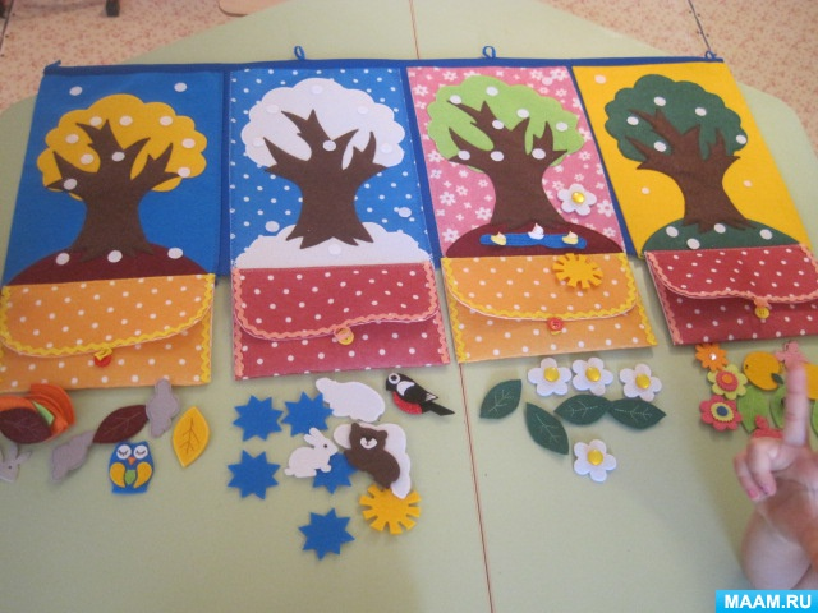 Развивающий планшет из фетра «Времена года» (для детей старшего дошкольного возраста)