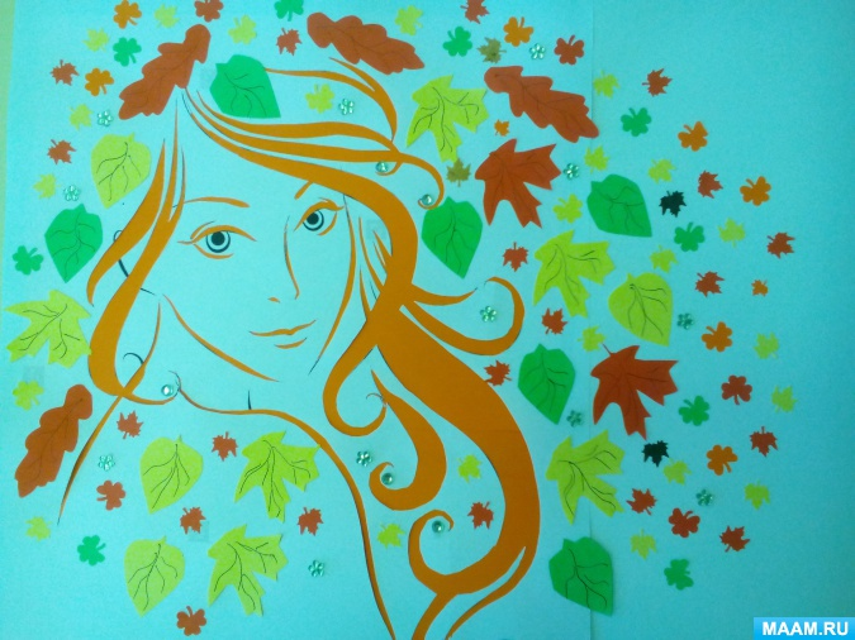 Девочка осень картинки для оформления шаблоны