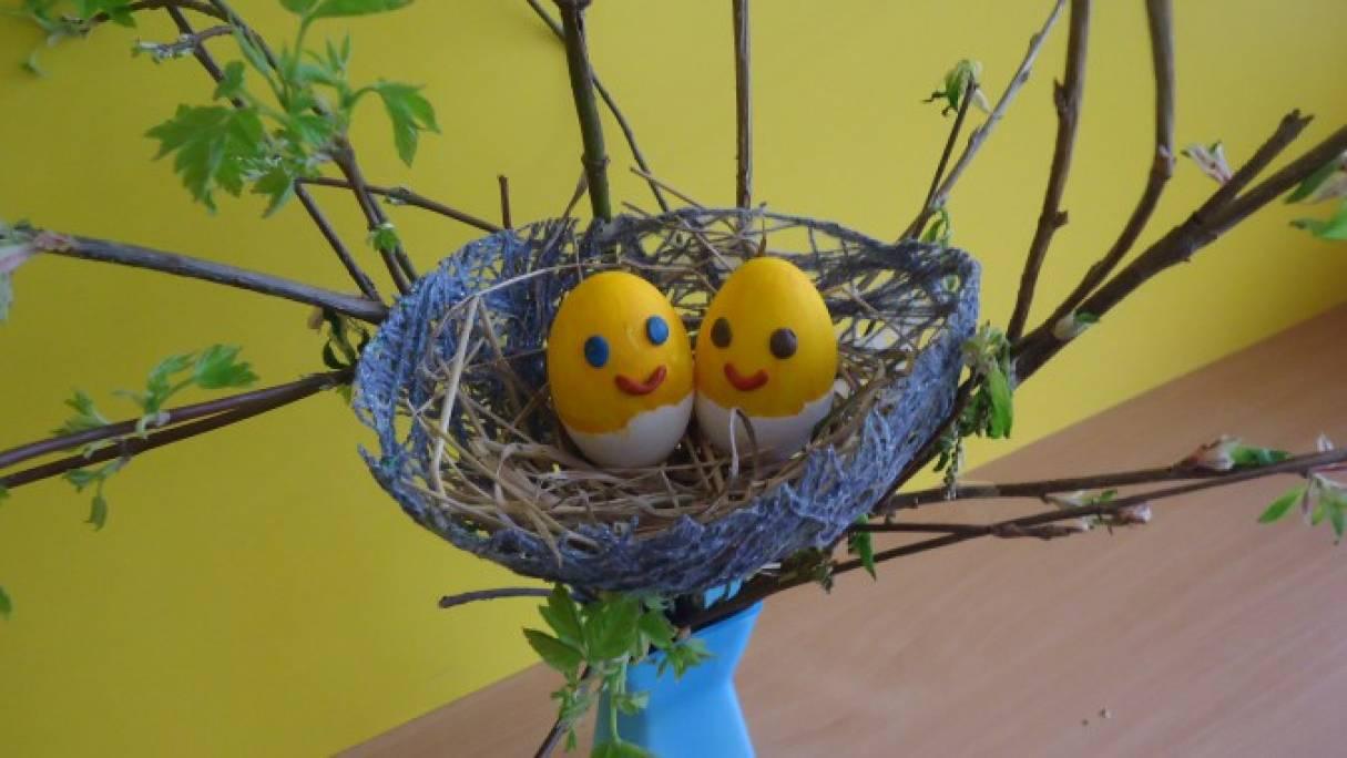 Поделки своими руками гнездо с птенцами 71
