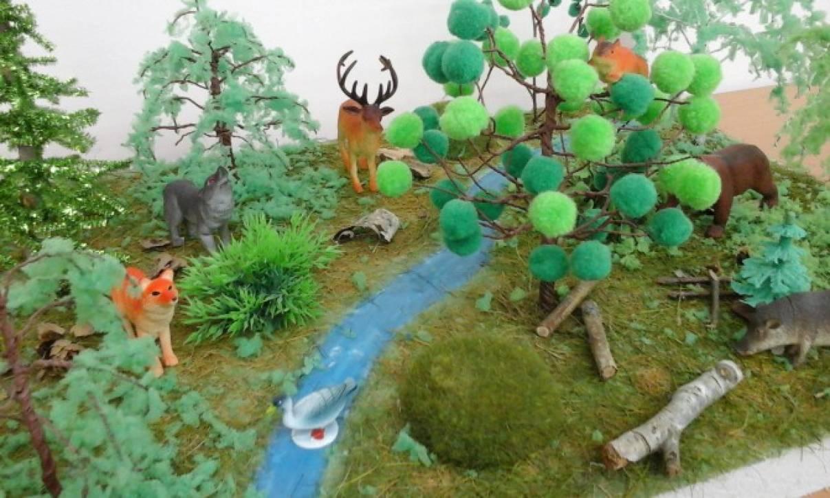 Макет леса своими руками фото 324