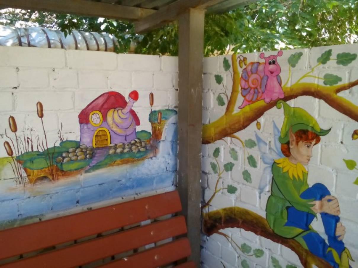 Оформление детского сада своими руками беседку 84