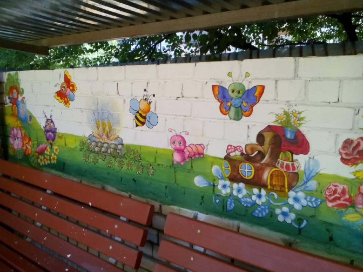 Как можно покрасить беседку в детском саду своими руками 57