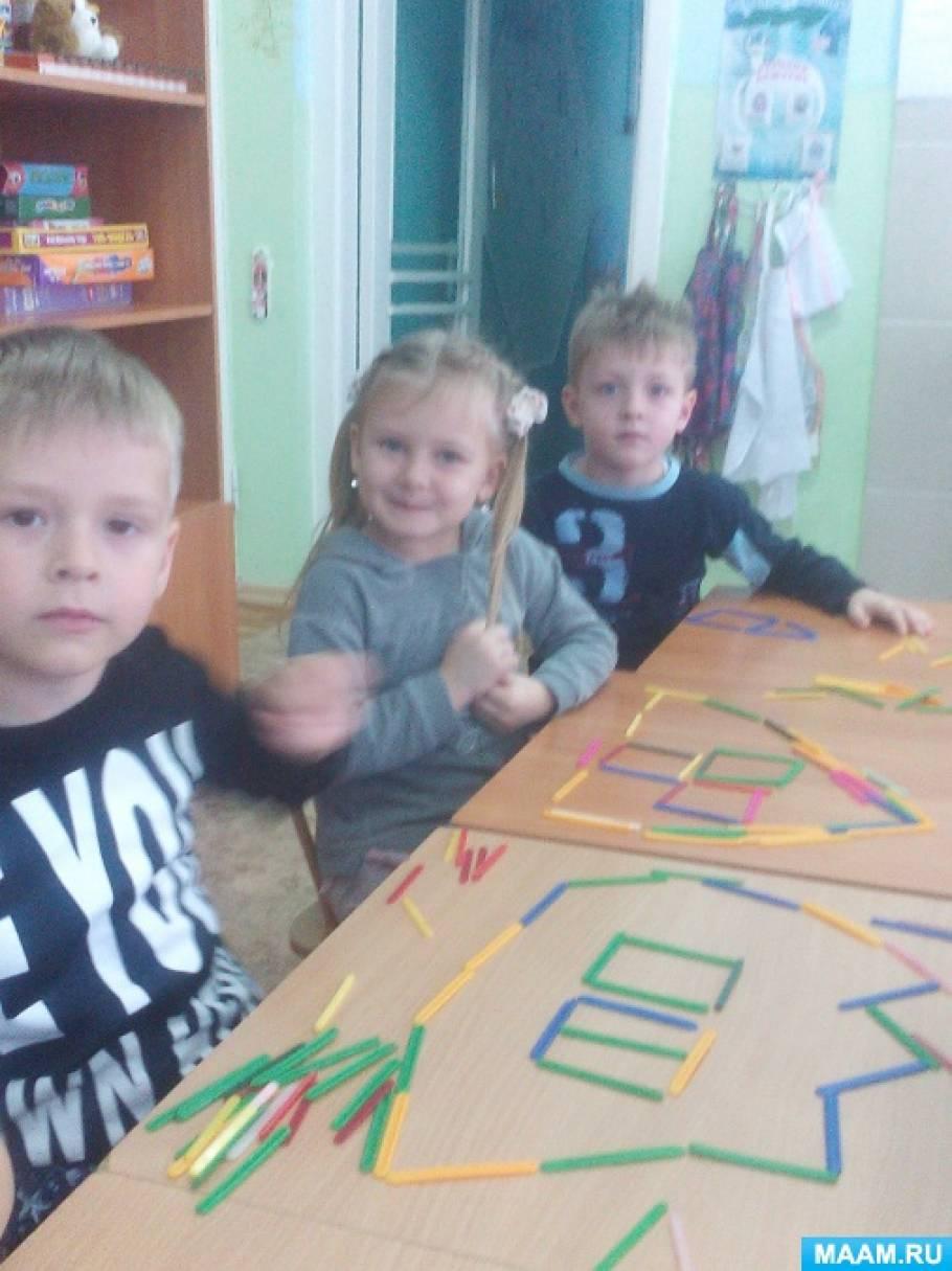 Дидактическая игра для детей со счётными палочками