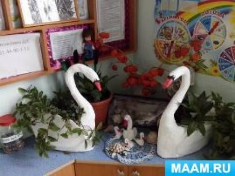 Мастер-класс по изготовлению кашпо «Лебеди» для уголка природы
