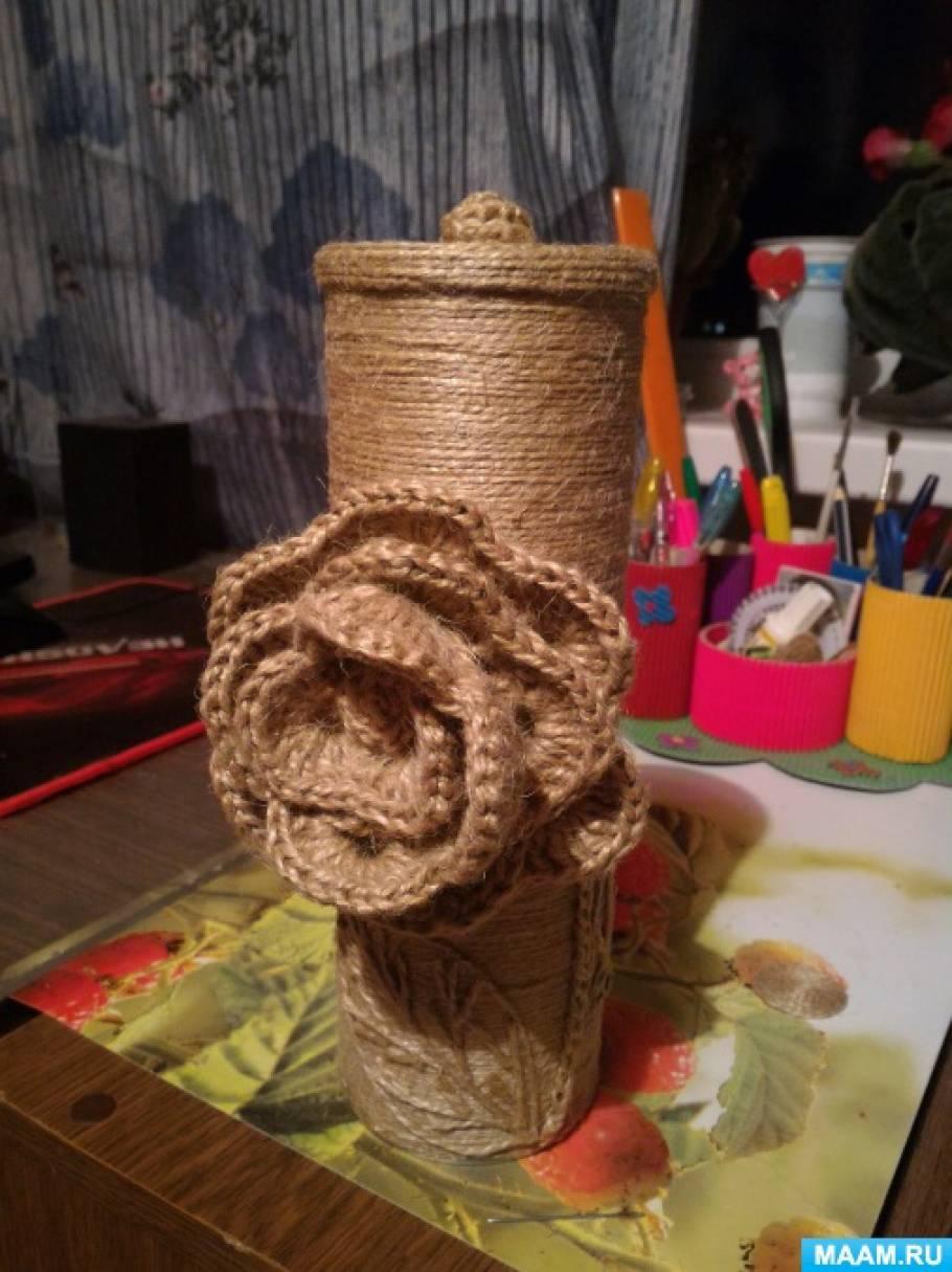 Поделки из веревки и мешковины 98