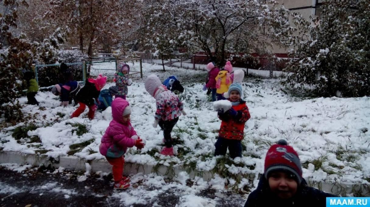 Мини-проект «Первый снег»— фотоотчет