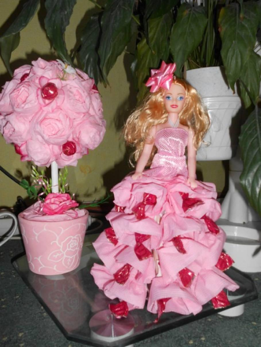 Кукла с конфетами своими руками фото 750