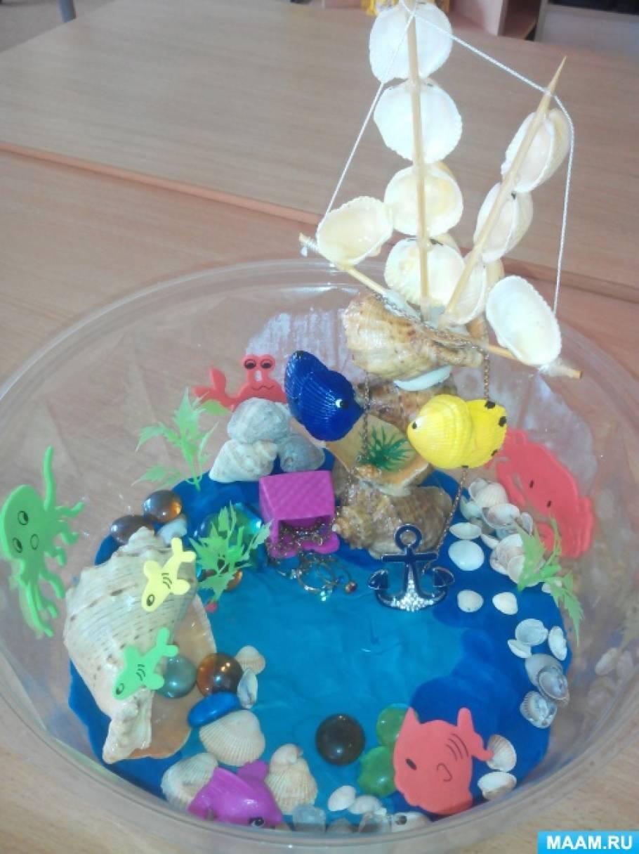 «Океан из пластилина». Коллективная работа воспитателей и детей второй младшей группы