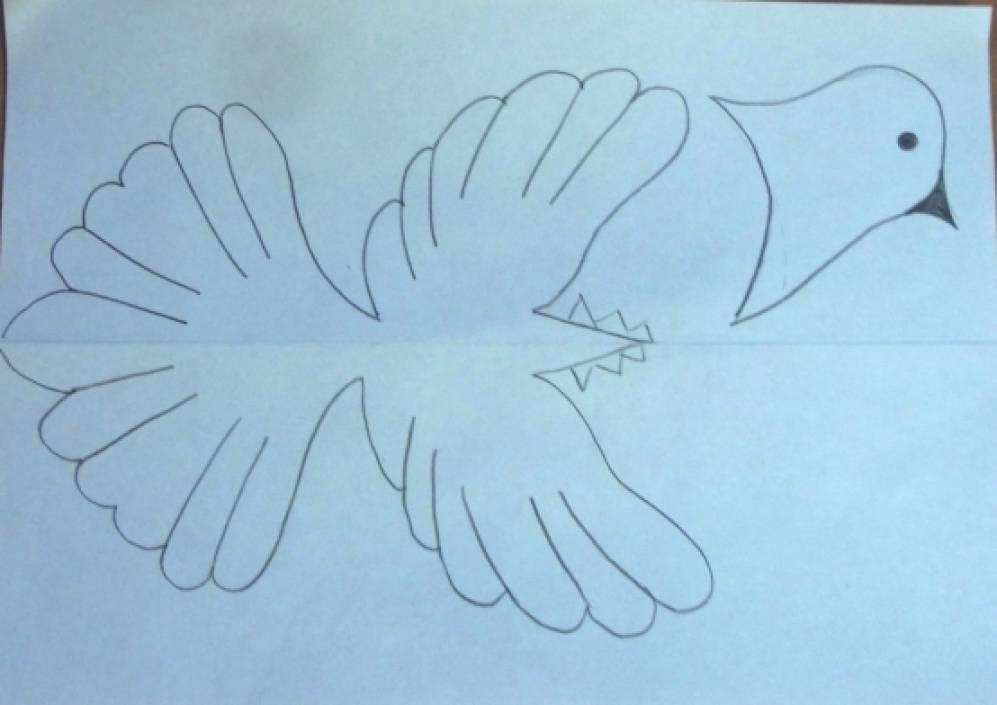 Как сделать белых голубей из бумаги