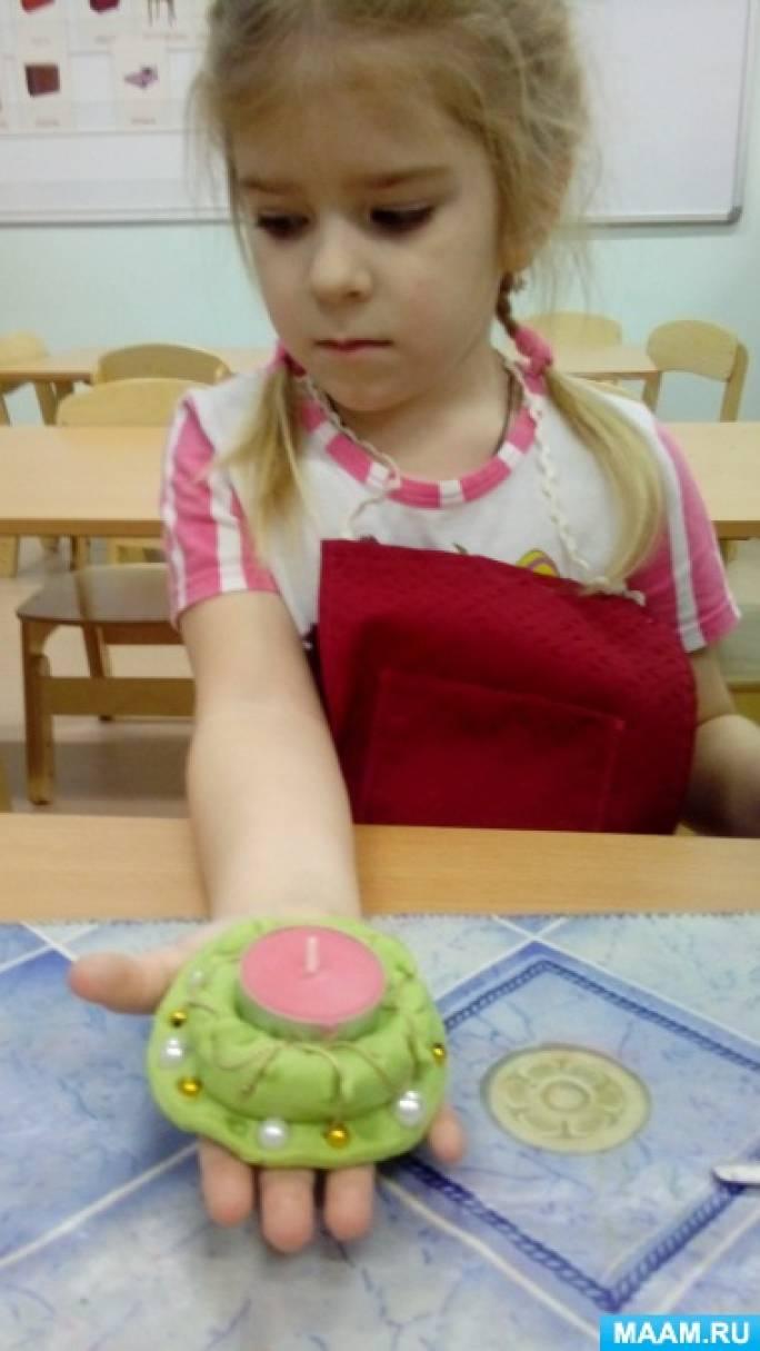 Мастер-класс изготовления подсвечника из соленого теста вместе с ребенком