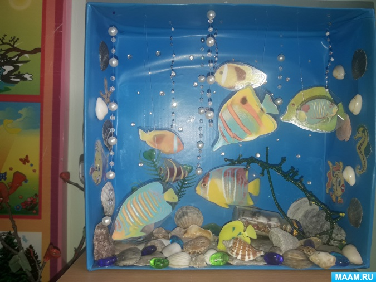 Макет «Сухой аквариум» для уголка живой природы