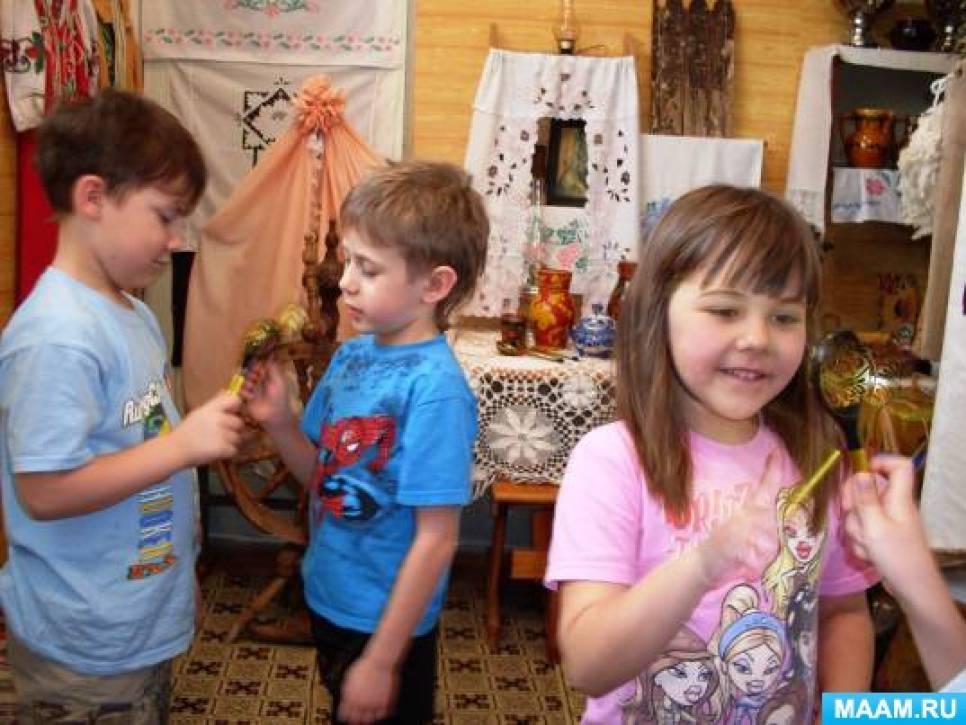 Занятие в музее для детей старшей группы «Ложка красненька, кашка сладенька»