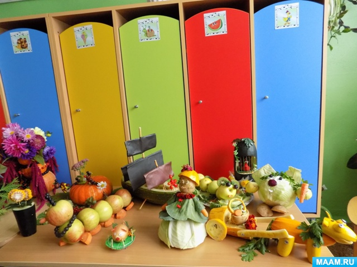 Поделки из овощей и фруктов на праздник осени - Адалин