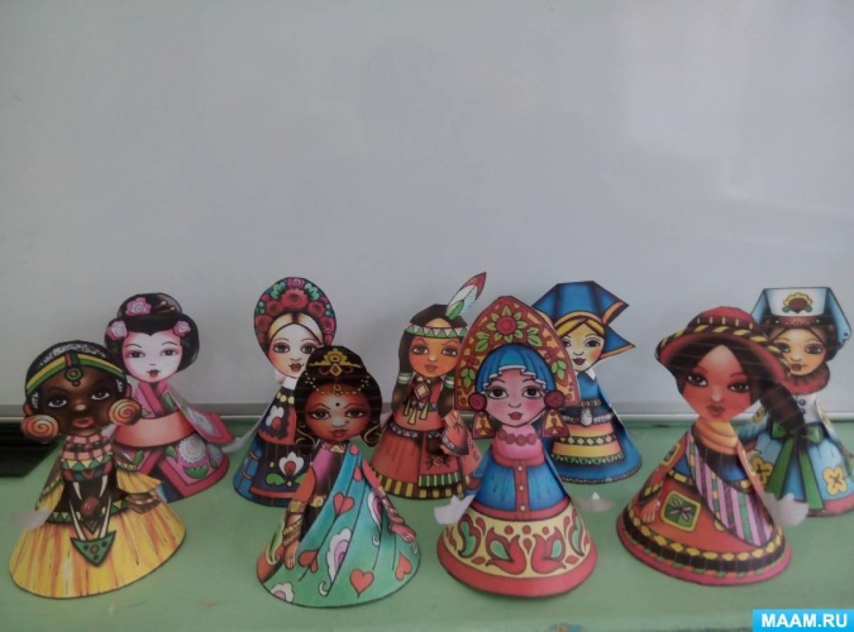 Конспект НОД по рисованию в подготовительной группе «Кукла в национальном костюме»