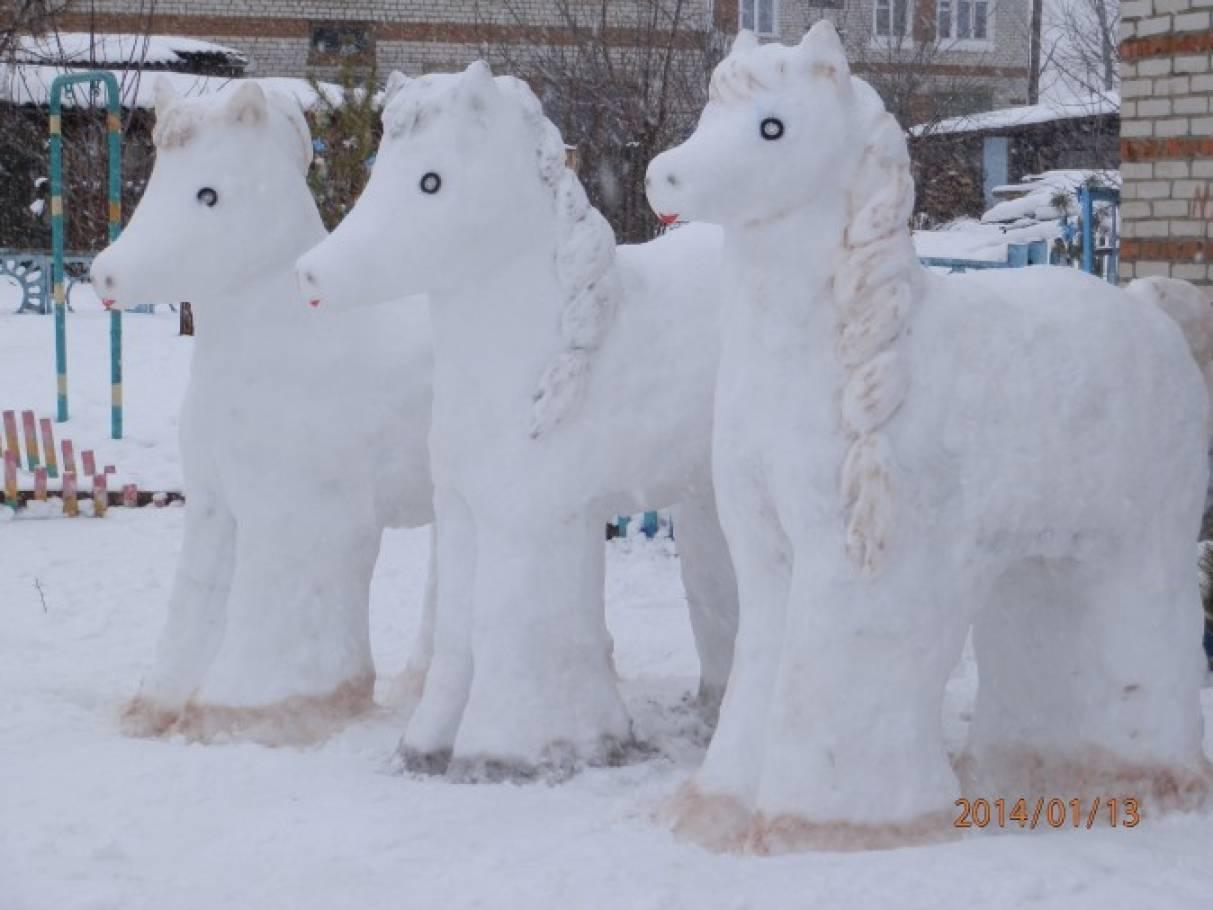 «Снежная сказка». Зимнее оформление участка