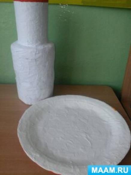 Мастер-класс по изготовлению посуды (папье-маше) и ее роспись в стиле «Золотая хохлома»