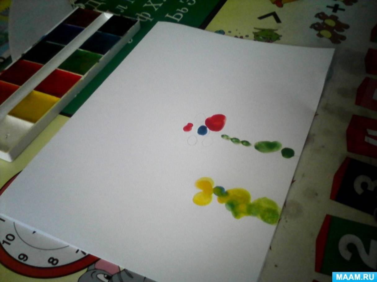 Первое знакомство с нетрадиционной техникой рисования «Рисование пальчиком»