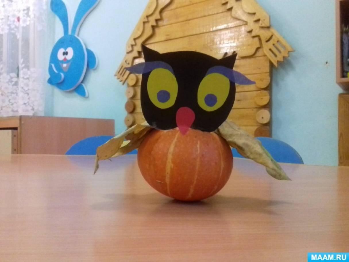 Мастер-класс для детей дошкольного возраста «Изготовление совы из природного материала»
